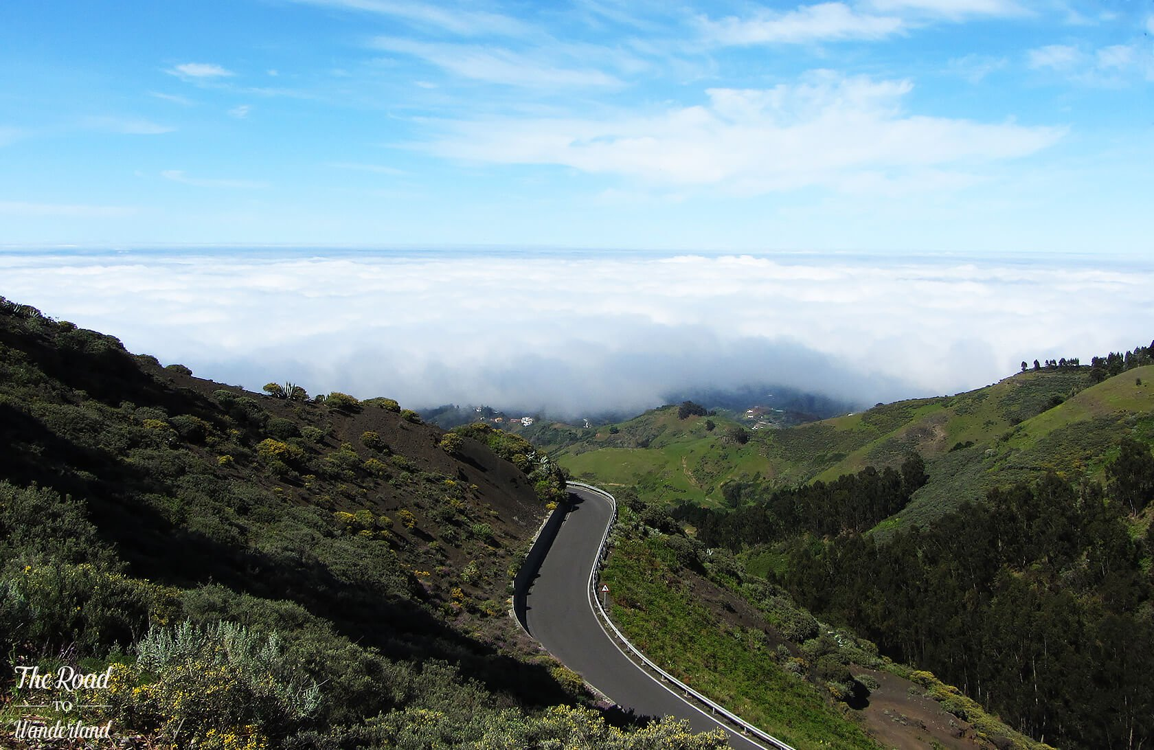 Landscapes of Gran Canaria: Low-lying cloud in Gran Canaria