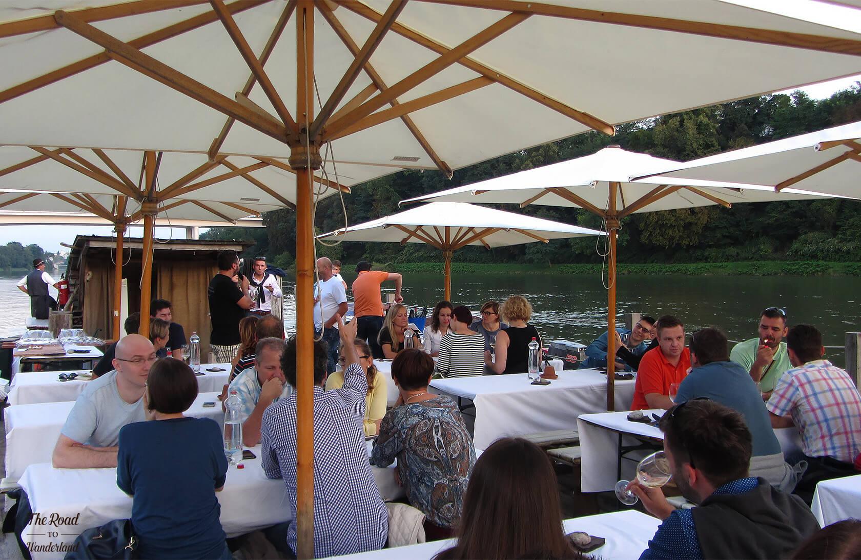 Vinoo.co wine cruise on the Drava, Maribor