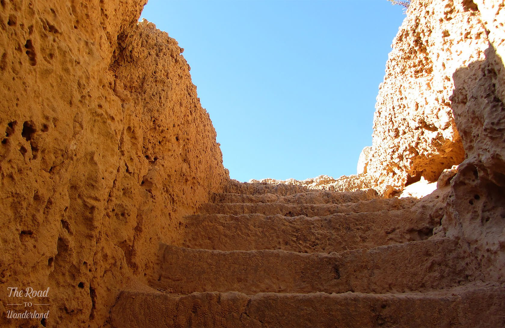 Looking up the stairs of a tomb, Tombs of the Kings, Paphos