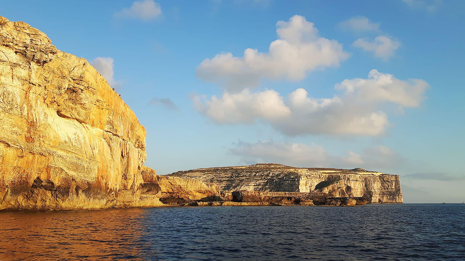 Dwejra Cliffs, Gozo at Sunset Cruise