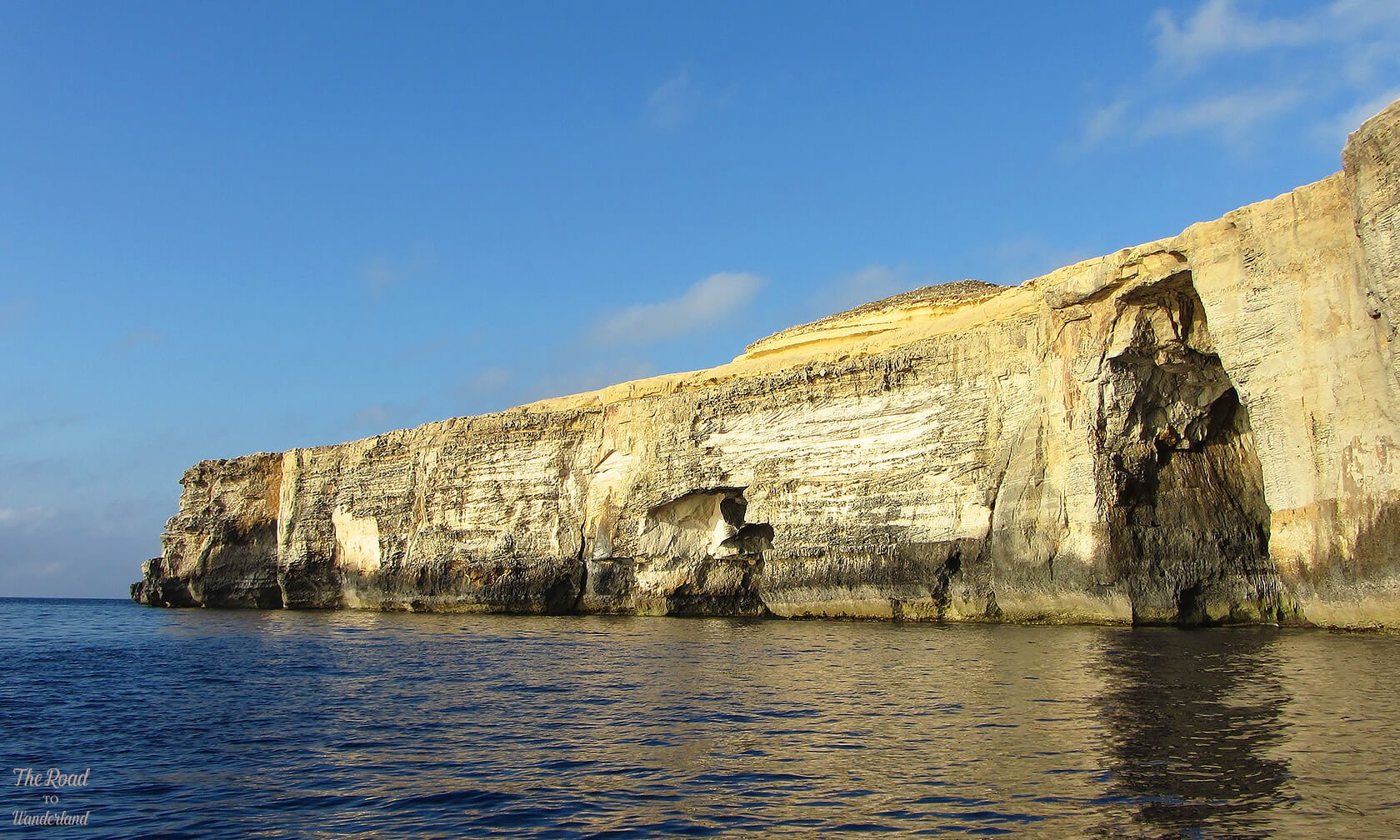 Gozo's cliffs in the late afternoon sun