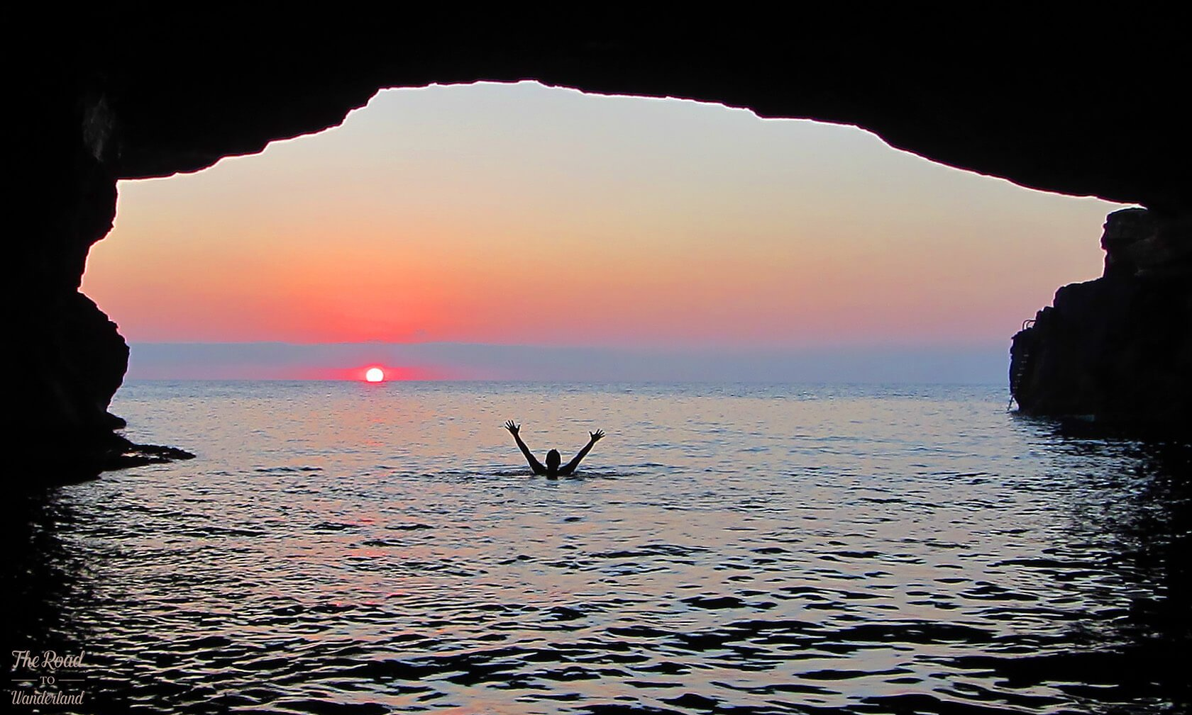 Swimming as the sun goes down...