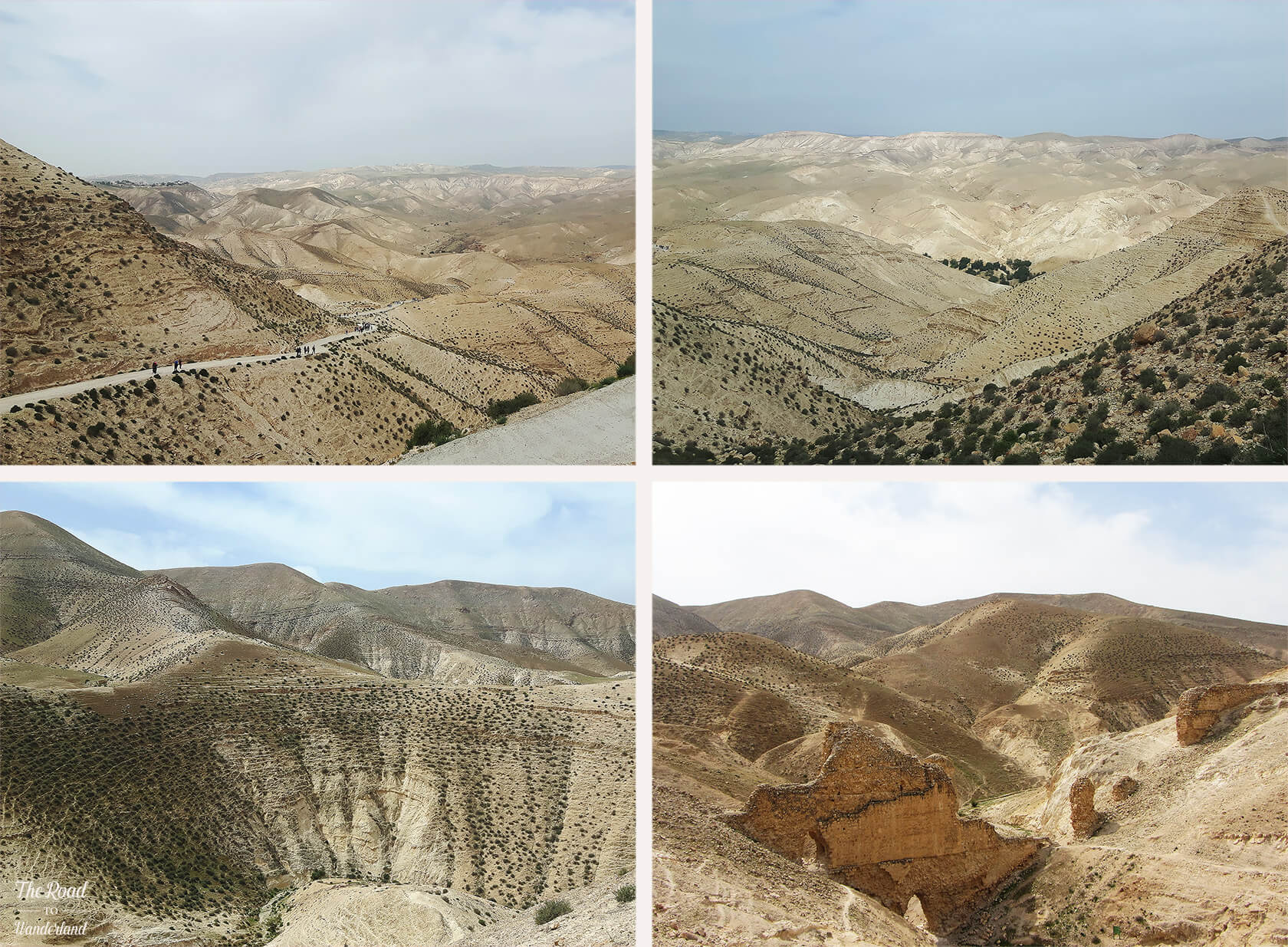 Images of the desert at Wadi Qelt