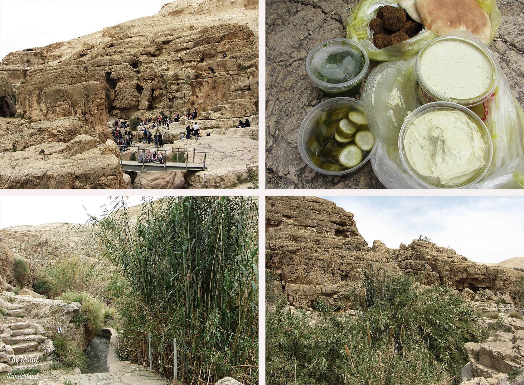 Wadi Qelt river and picnic
