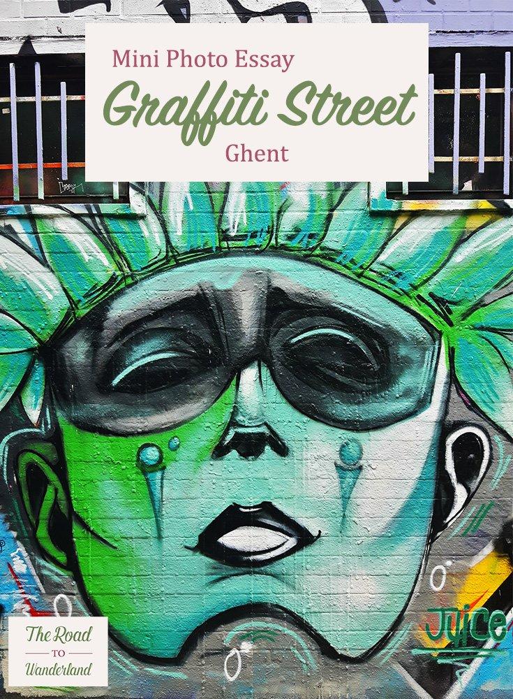 Graffiti Street Ghent Pinterest Image