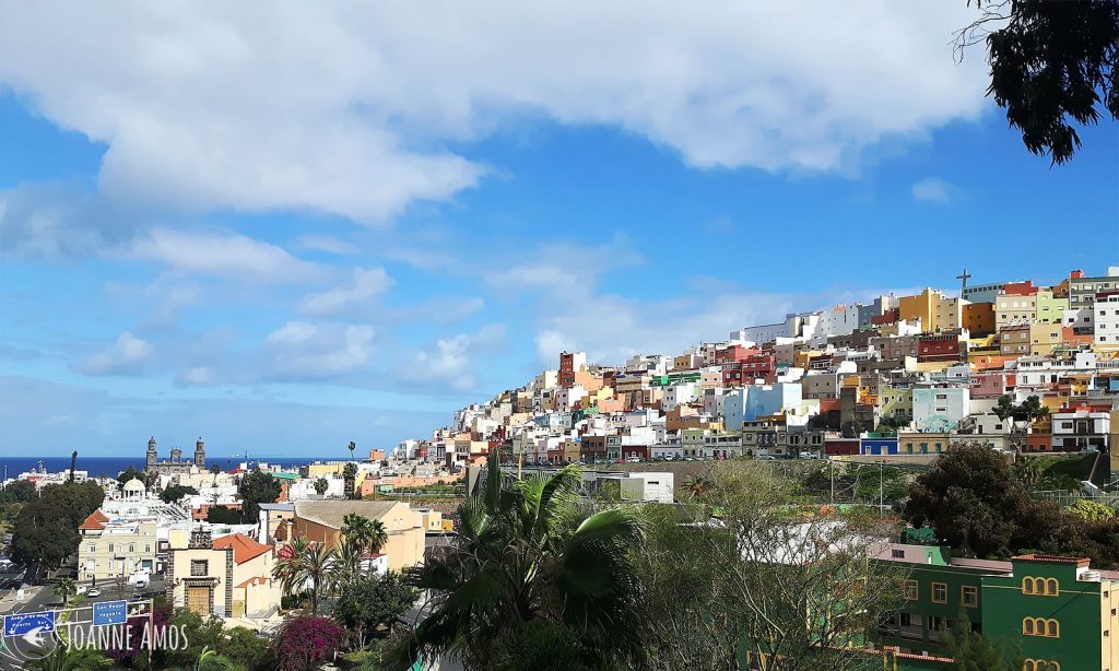 The view from outside my house in Las Palmas, Gran Canaria