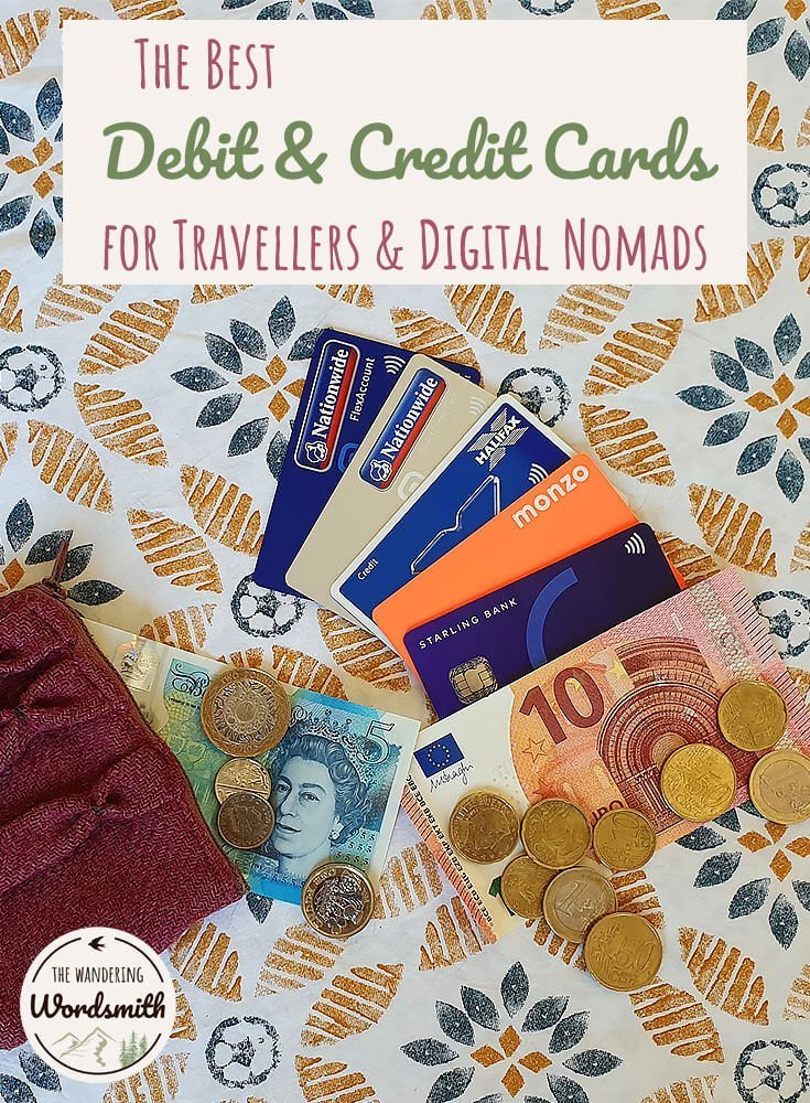 The Best Debit & Credit Cards for Travellers & Digital Nomads Pinterest image