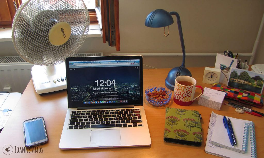 A neat version of my desk (it isn't always like this!)