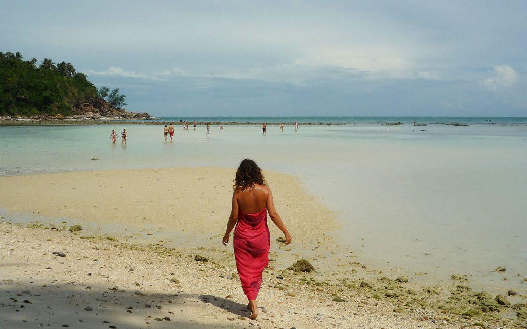 Me on a beach, Koh Phangan, 2009