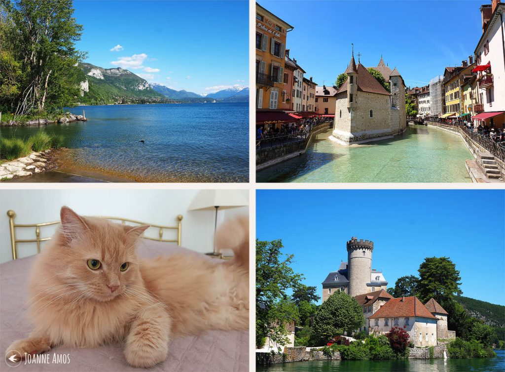 Annecy 2019: Lake Annecy; the old town; Chateau de Duingt on the lake; Charly