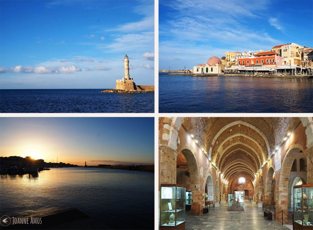 Chania 2019: Lighthouse; Harbour; Archaeological Museum; Harbour at Sunset